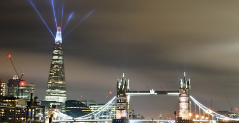 The Shard dazzling London with spectacular light shows until New Year's Eve
