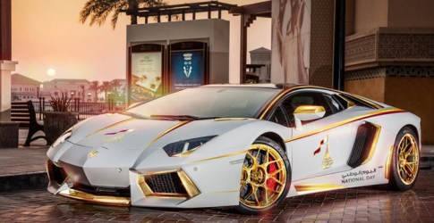 The one-off Qatar National Day edition Lamborghini Aventador LP700-4