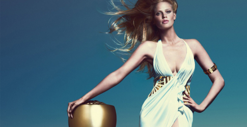 Lara Stone stars in Versace's new fragrance campaign