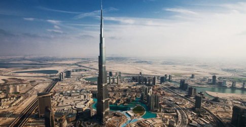New video footage from the top of Dubai's Burj Khalifa