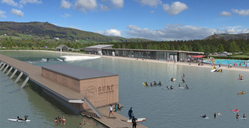 A huge surfing wave garden is being constructed in Wales