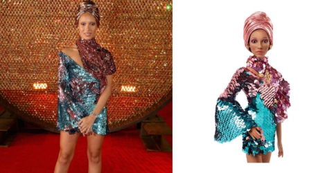How cool: Adwoa Aboah has just been immortalised as a Barbie doll
