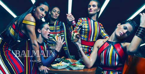 Adriana Lima, Joan Smalls, Rosie Huntington-Whiteley, and more for Balmain SS15