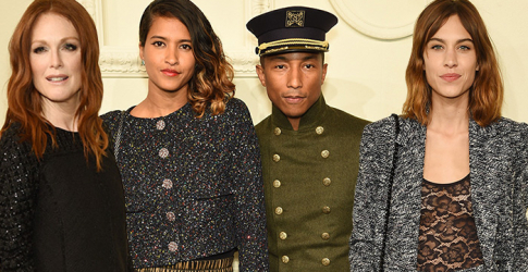 Beyonce, Pharrell, Alexa Chung and more at the Chanel Paris-Salzburg 2014/15 NYC show