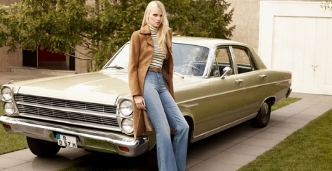 Lara Stone fronts H&M's new Seventies-inspired campaign