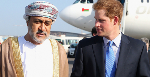 Prince Harry touches down in Oman ahead of the Abu Dhabi Sentebale Polo Cup