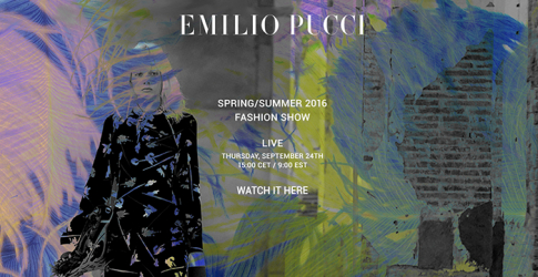 Watch live: See the Emilio Pucci Spring/Summer 16 show live-stream from MFW here