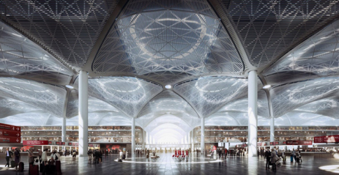 Designs unveiled for the world's largest airport terminal in Istanbul