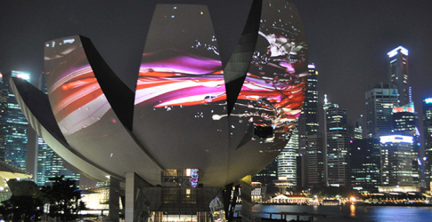 Naoko Tosa's innovative video installation in Singapore