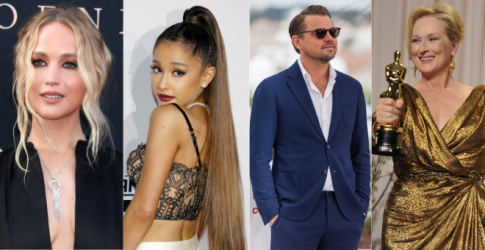 What do Jennifer Lawrence, Ariana Grande, Leonardo DiCaprio and Meryl Streep have in common?