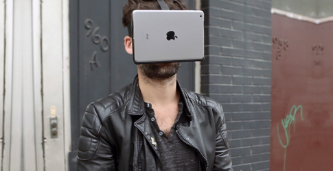 The iPad and iPhone 6 Plus AirVR headset