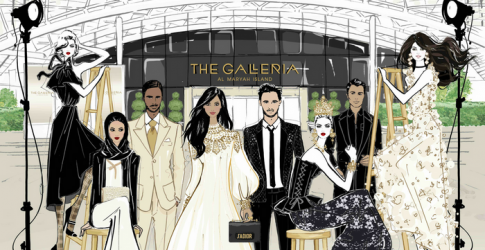 The Galleria on Al Maryah Island has teamed up with Megan Hess on a new campaign