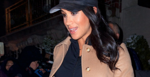 The Duchess of Sussex is so on trend in this camel coat
