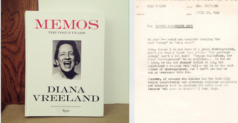 Diana Vreeland – 'Memos: The Vogue Years'
