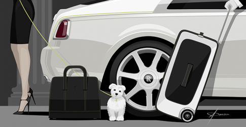 Travel in luxury with the Rolls-Royce Wraith luggage