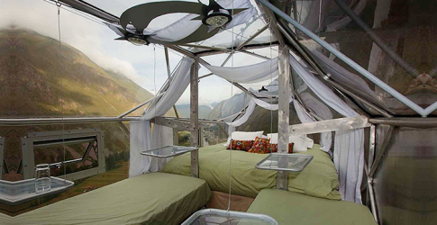 One for the brave: Stay in transparent sleeping capsules suspended above Peru's Sacred Valley