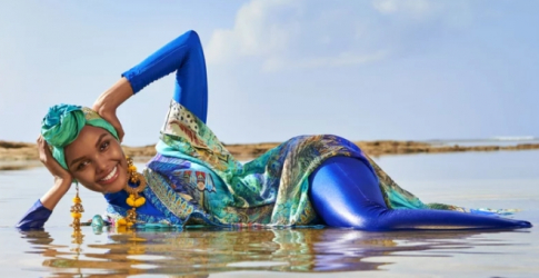 Halima Aden is the first model to appear in Sports Illustrated in a hijab and burkini
