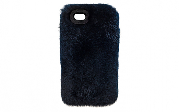 St. James in Midnight Blue Dyed Sheared Mink