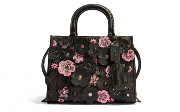 Tea Rose Applique Rogue Bag