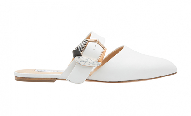 Savage Leather Flat Mules, Dhs4,150