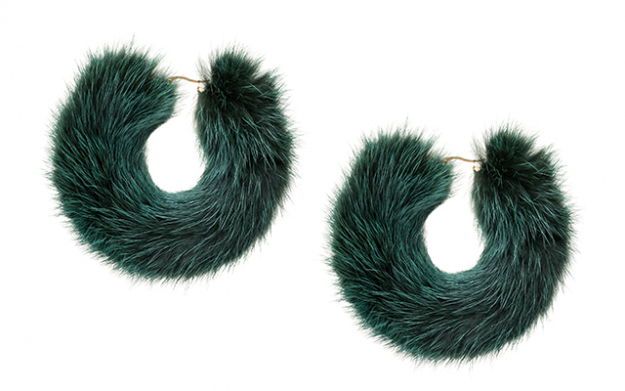 Mink hoops in green