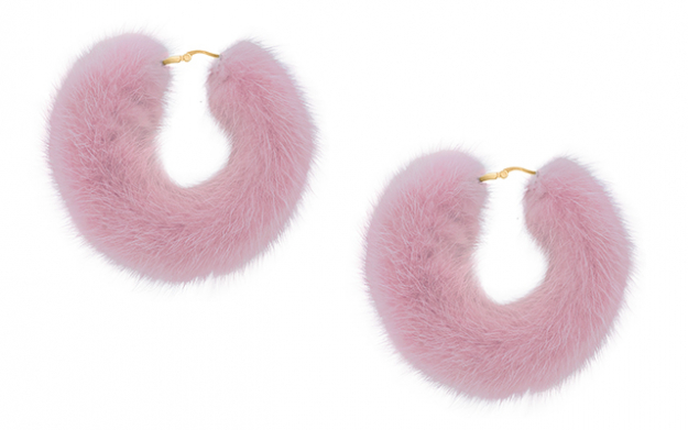 Mink hoops in pink