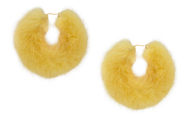 Mink hoops in yellow
