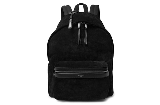 Saint Laurent City Leather-Trimmed Suede and Canvas Backpack, Dhs4,315