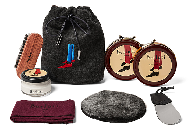 Berluti Shoe Care Kit with Seven Pack Knitted Socks, available on Mrporter.com for Dhs2,986