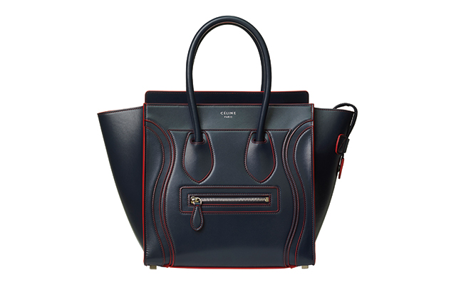 Céline Debossed Luggage Handbag in Satin Calfskin, Dhs12,490