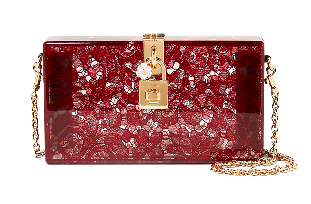 Dolce & Gabbana Dolce Plexi Lace Evening Clutch available on Ounass.com, Dhs6,500