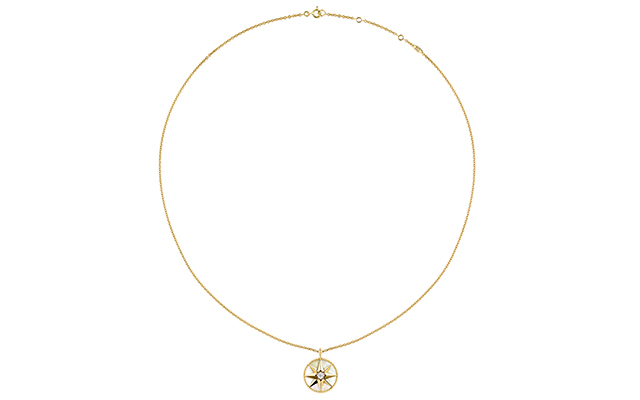 Rose Des Vents necklace – yellow gold diamond and mother of pearl