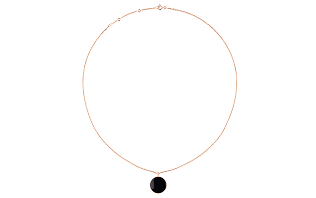 Rose Des Vents necklace – pink gold, diamonds and onyx