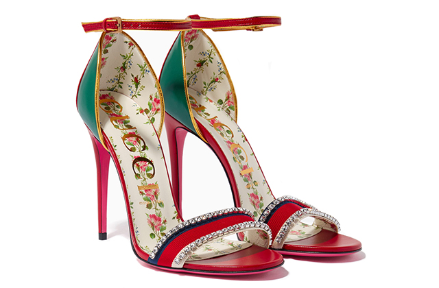 Gucci multi-coloured Ilse Crystal Web sandals, Dhs4,500