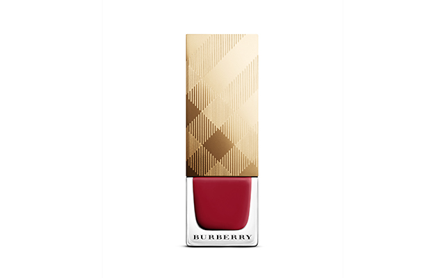 Burberry nail polish in Parade Red