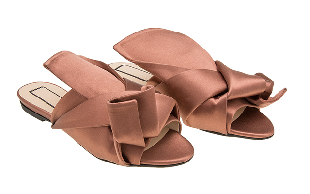 Ronny Flat Mules in Terracotta
