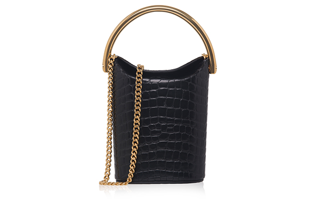 Stella McCartney Croc-effect Shoulder Bucket Bag, Dhs4,635