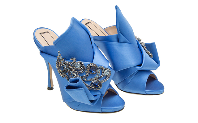Ronny Mules with jewels in Cerulean