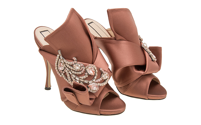 Ronny Mules with jewels in Terracotta