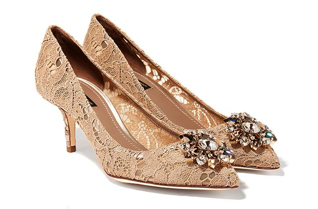 Dolce & Gabbana Bellucci lace pumps available on Ounass.com, Dhs2,900