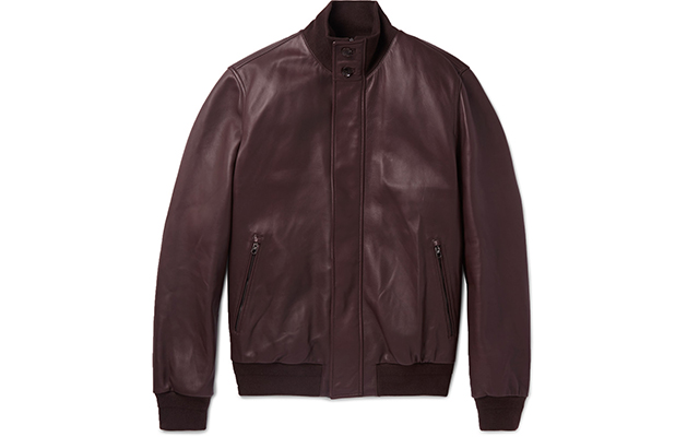 Leather bomber jacket, Dhs15,250