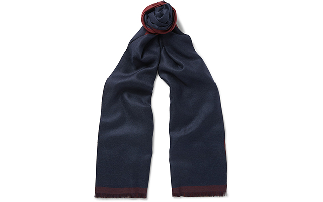 Double-sided cashmere and silk scarf, Dhs2,190