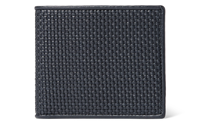 Pelle tessuta woven leather billfold wallet, Dhs1,450