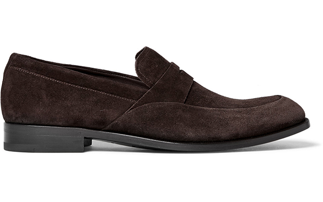 Flex suede penny loafers, Dhs1,820