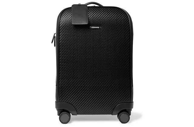 Ermenegildo Zegna Pelle Tessuta Leather Carry-On Suitcase, Dhs13,523