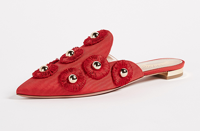 Aquazzura Sunflower Flats available at Shopbop.com, Dhs2,559