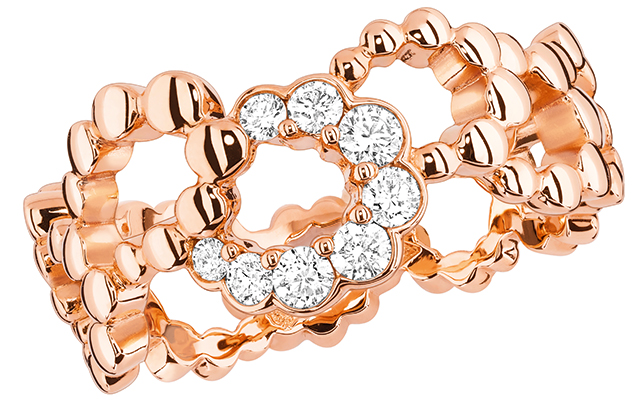 Archi Dior Milieu du Siecle ring in pink gold and diamonds