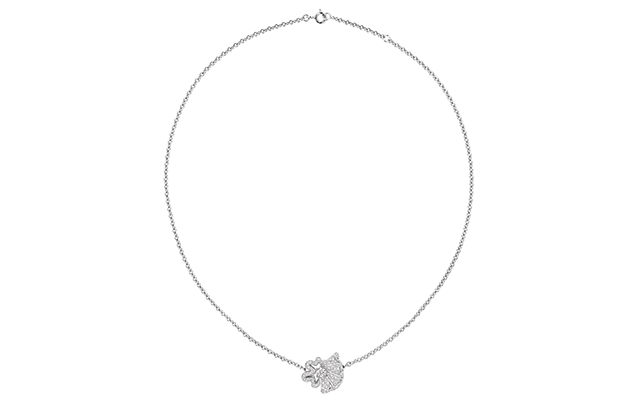 Archi Dior Cocotte necklace in white gold and diamonds