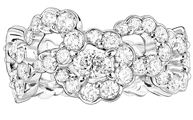 Archi Dior Milieu du Siecle ring in white gold and diamonds