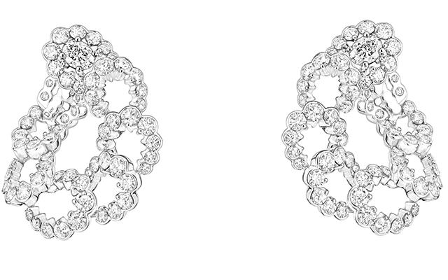 Archi Dior Milieu du Siecle earrings in white gold and diamonds